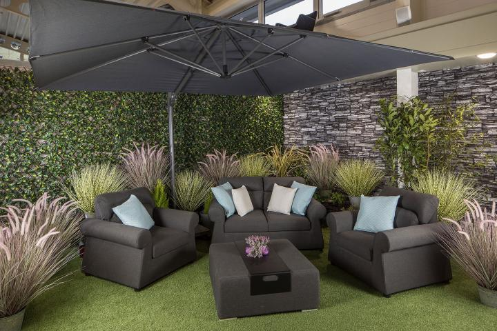 life outdoor living 3 5m x 3m rectangular palermo cantilever parasol with lava frame 150kg base cover offer