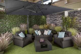 This Parasol Special Offer Includes A Cantilever Parasol Kg Wheeled Base Protective Cover  C B Life Outdoor