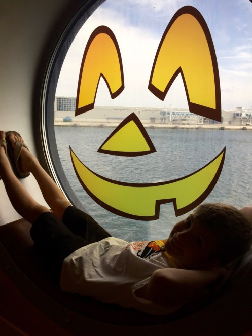 Disney Dream Halloween Porthole Pose