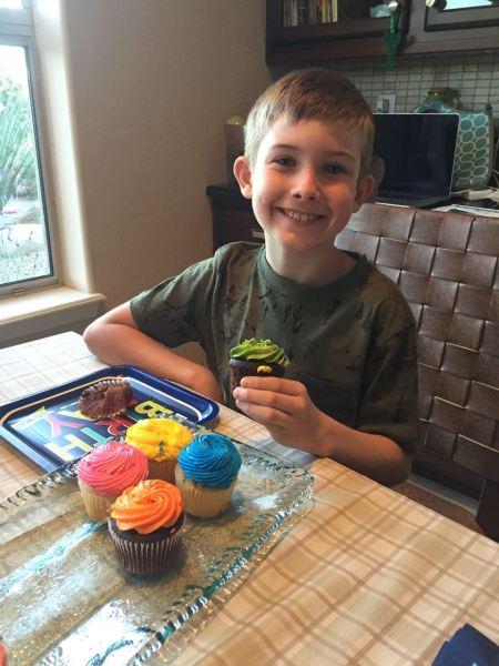 Hunter's Birthday Cupcakes