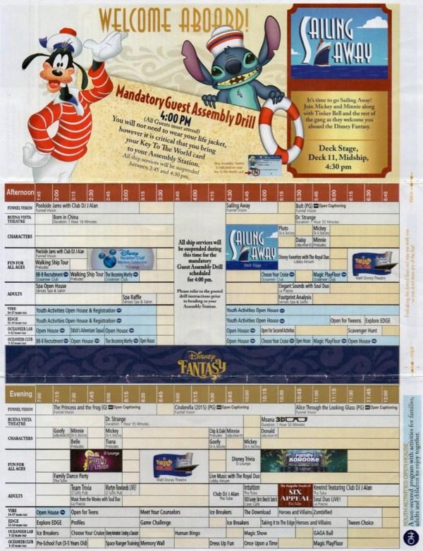 Disney Fantasy 10 Night Caribbean Navigator Day 1