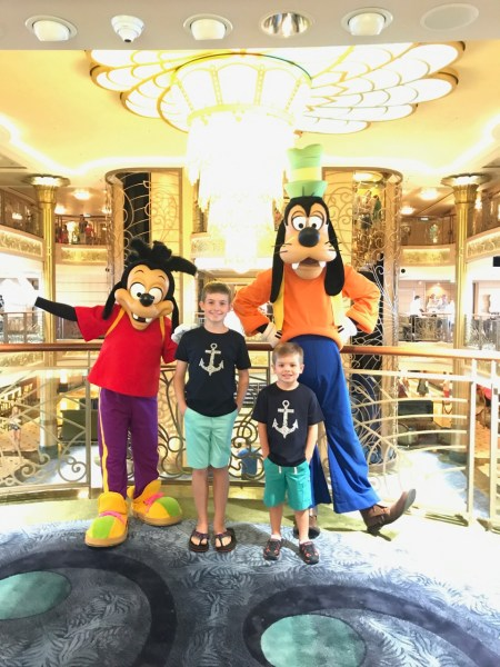Disney Fantasy Goofy and Max Character Meet & Greet