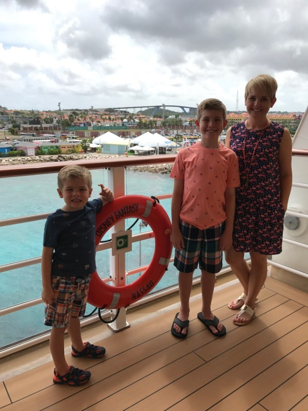 Disney Fantasy Curacao - Deck Four Overlooking Island