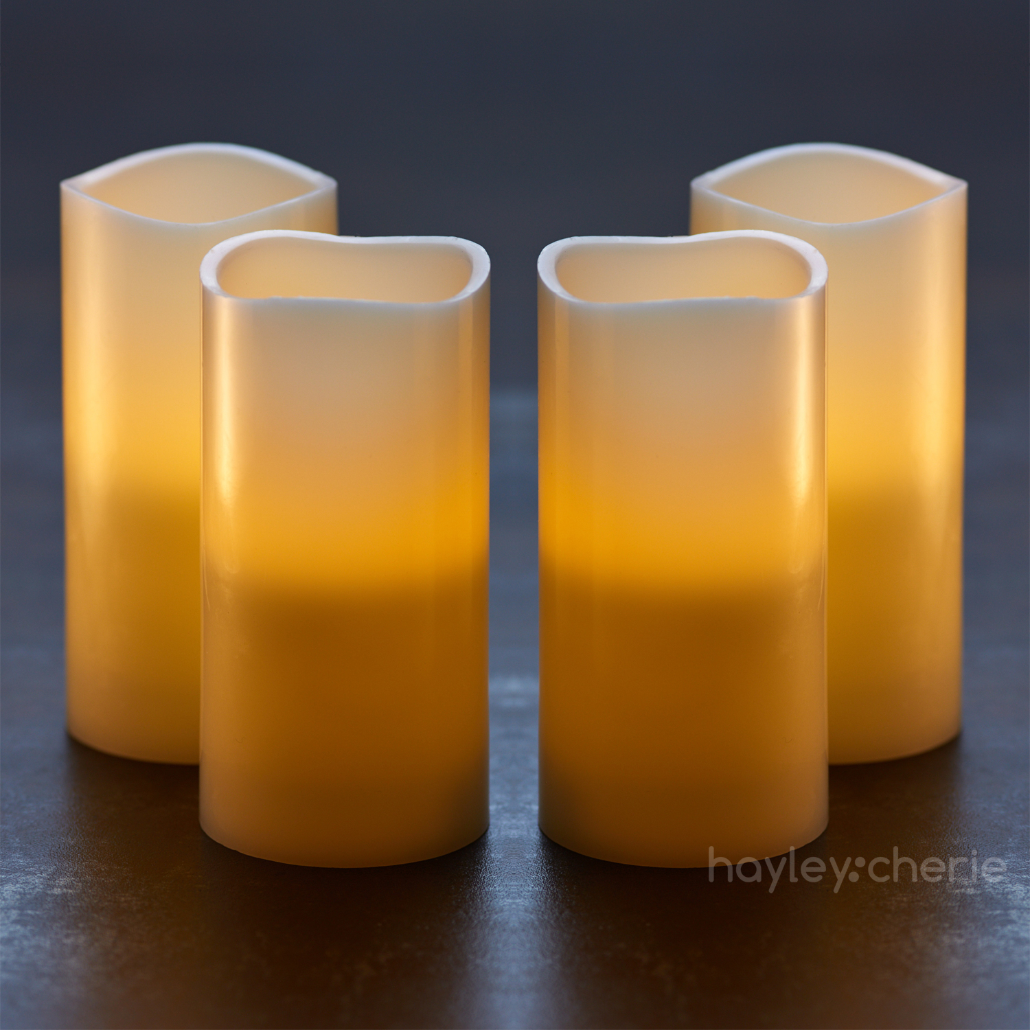 5 hour timer u2013 set of 4 flickering flameless candles with timer 5 hours on and 19 hours off the timer makes our pillar candles so convenient to useu2026 have - Flameless Candles With Timer