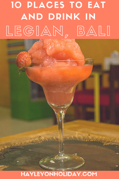 Where to eat and drink in Legian, Bali. Here are my recommendations for the best restaurants in Legian, as well as the best Legian bars and cafes.