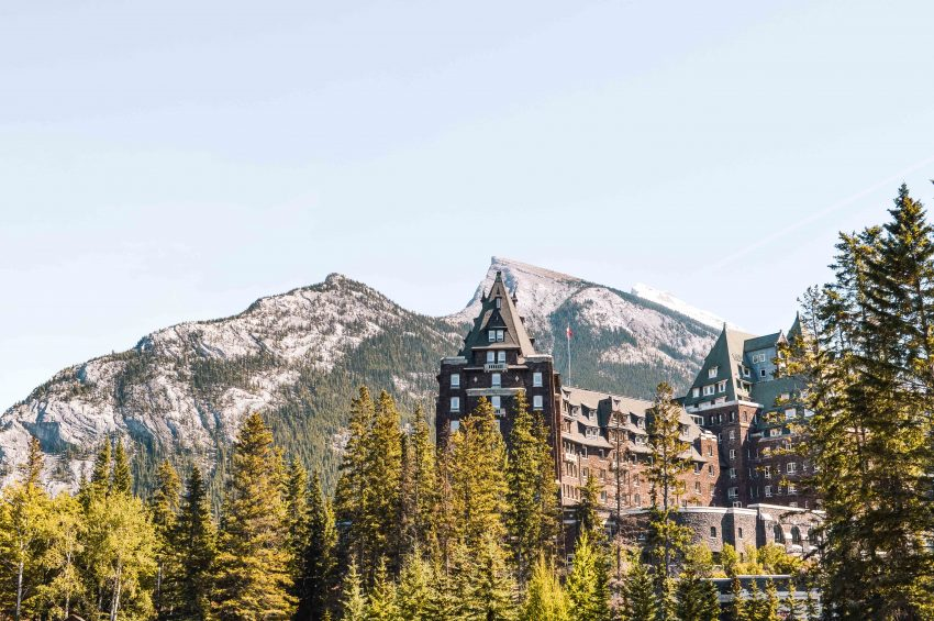 Fairmont Banff Springs Hotel in the Canadian Rockies