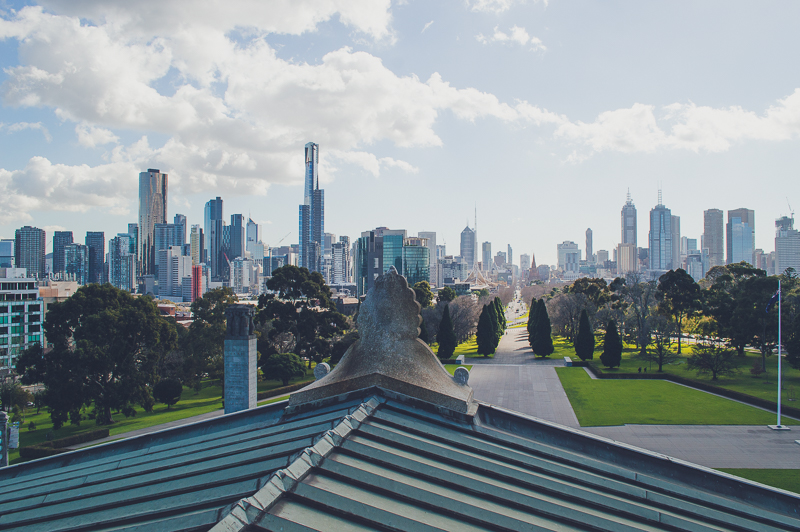 Melbourne Skyline from Shrine of Remembrance