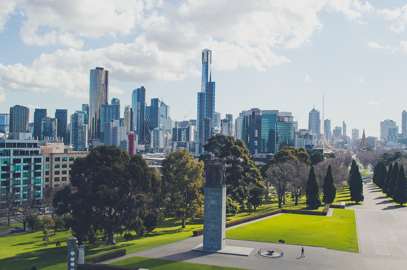 Melbourne Skyline from the Shrine of Remembrance