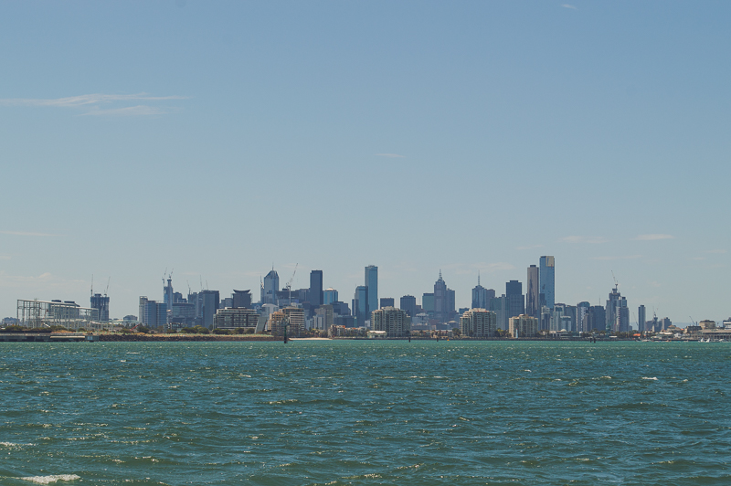 Melbourne skyline from Williamstown - one of the best views in Melbourne