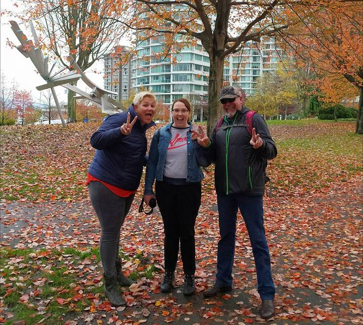 Family visiting me in Vancouver, Canada