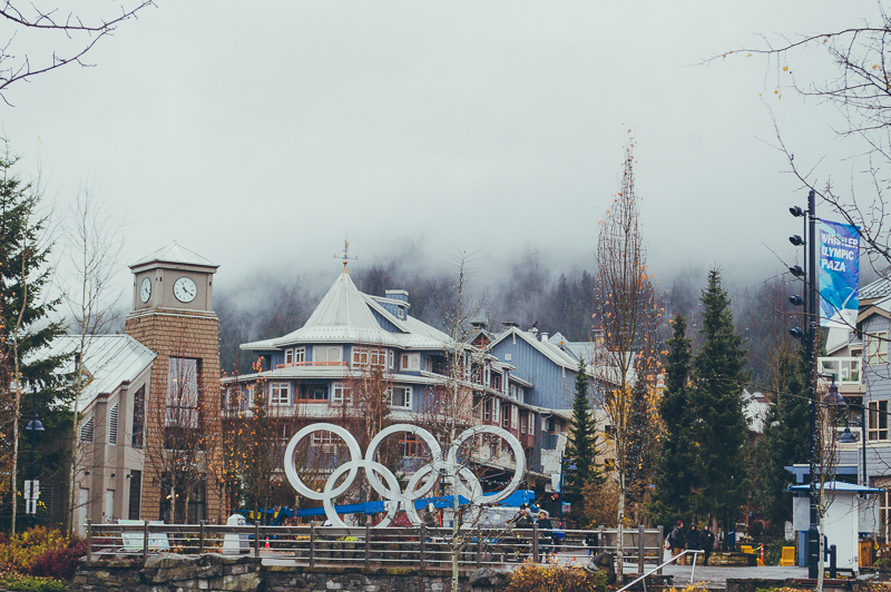 The Winter Olympic Rings in Whistler, Canada