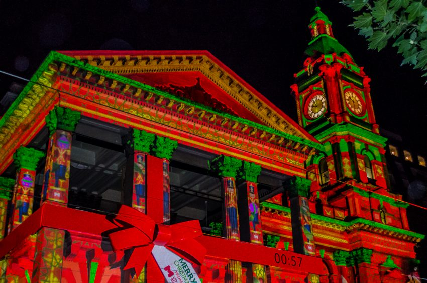 Melbourne Town Hall at Christmas