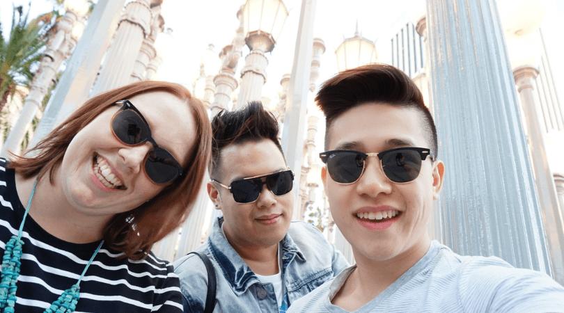 Exploring Los Angeles (LA) with friends