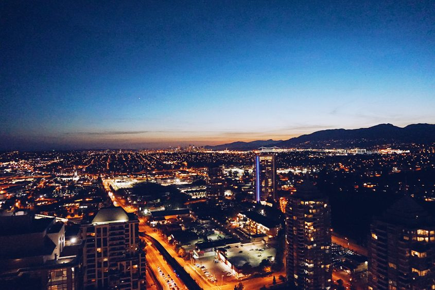 Vancouver Views from Burnaby, British Columbia