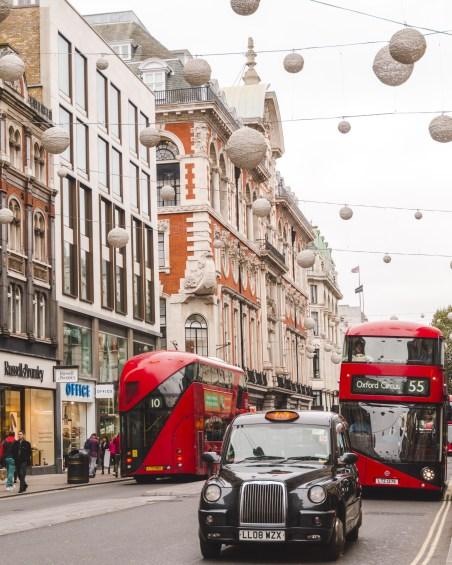 London Christmas on Oxford Street