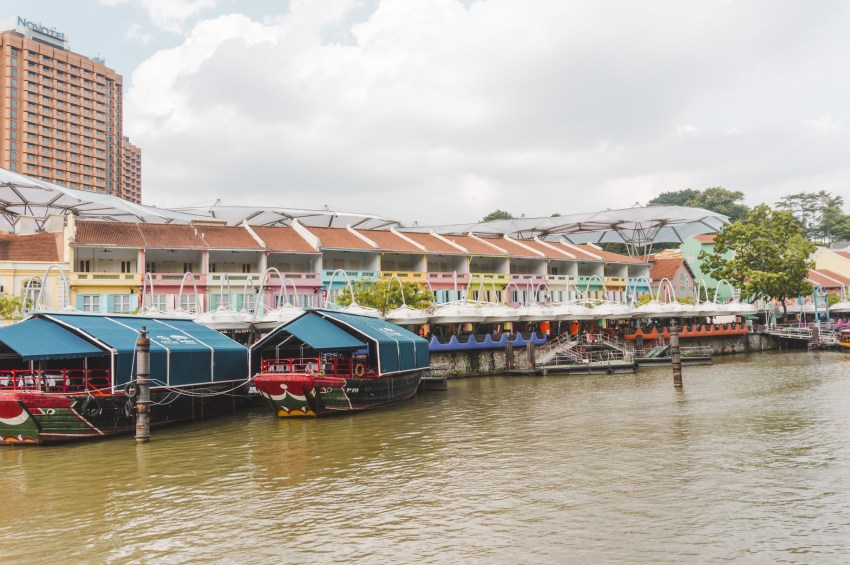 Singapore photos. Visiting colourful Clarke Quay is one of the best things to do in Singapore.