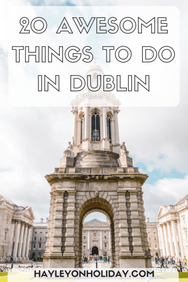 Check out my guide to 20 awesome things to do in Dublin, Ireland. I include local tips, Dublin attractions, cheap accommodation and Dublin day trips too!