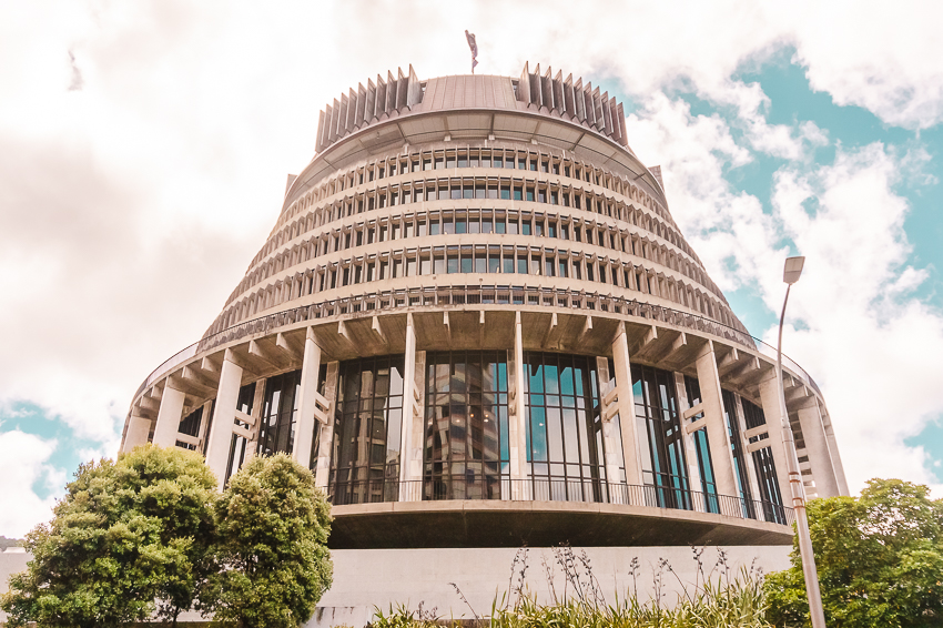 Free things to do in Wellington: photograph the Beehive