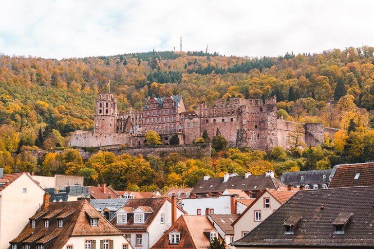 Heidelberg Castle views from the Old Bridge