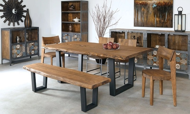 79 Inch Live Edge Solid Acacia Dining Table Haynes Furniture