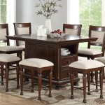 Haynes Furniture Mcgregor Counter Height Island Dining Set With Stools