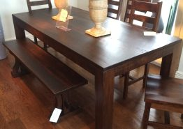 HEIDLEBURG SOLID MAPLE DINING TABLE