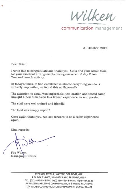 Wilken Commendation Letter