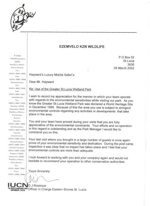 KZN-Wildlife-Ref-Letter