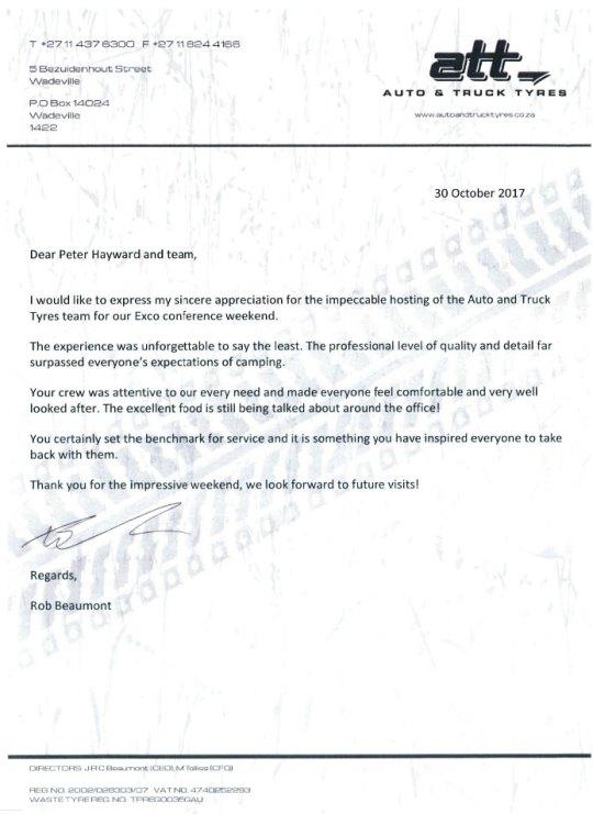 Thank you Letter ATT