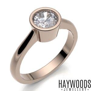 Rose Gold Bezel Set Ring