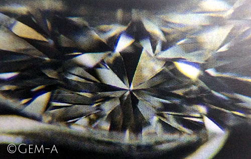 Single Refraction in a Diamond