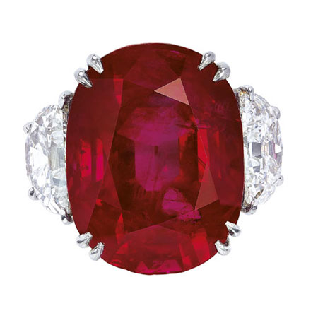 Ruby and Diamond Ring by Harry Winston