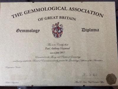My Gem-A Gemmology Diploma