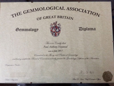 My Gem-A Gemmology Diploma