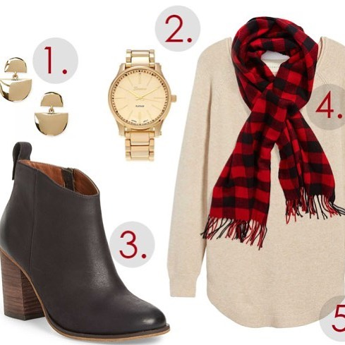 Weekly outfit inspo plaid amp gold! Go check out myhellip