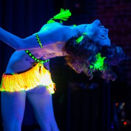 Naughty Bit Burlesque featuring Hazel Honeysuckle at the Bit House Saloon in Portland, OR on Nov. 16, 2019. (photo by Casey Campbell Photography)