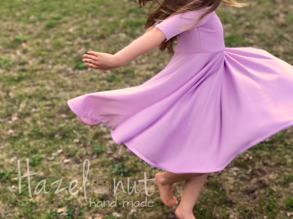 Lavendar Knit Fit and Flare Sahara Dress