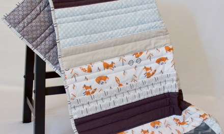 Hipster Fox and Bicycle Quilt