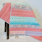Lavender and Dusty Pink Floral Baby Quilt