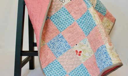 Sweet Girly Baby Quilt in Etsy Shop