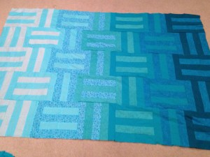 Ombre Quilt top by Hazelnut Handmade