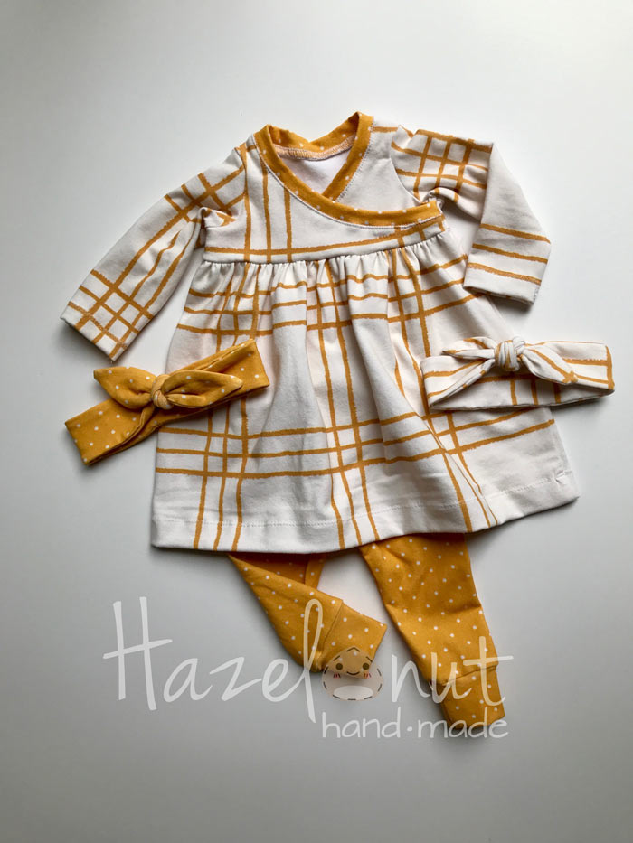 Teeny Tiny Baby Dress by Hazelnut Handmade