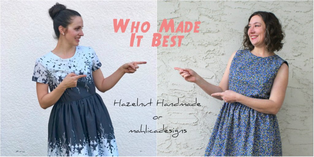 Ladies Caroline Dress Who Made It Best with Hazelnut Handmade and Mahlica Designs