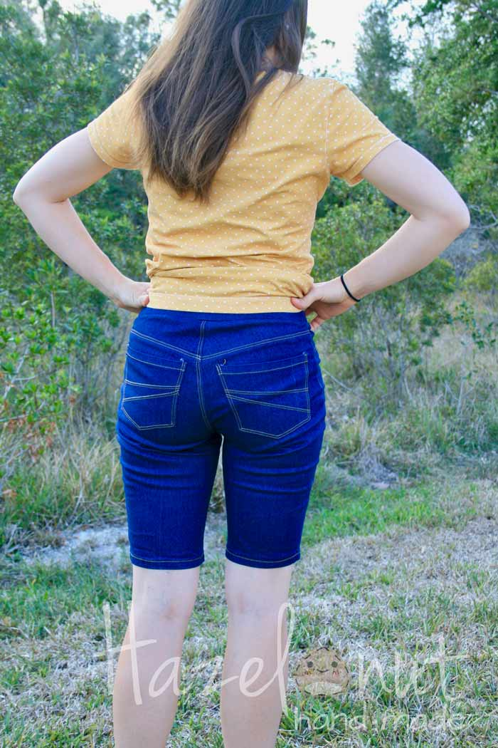 Eleonore Pull On Jeans with Hazelnut Handmade