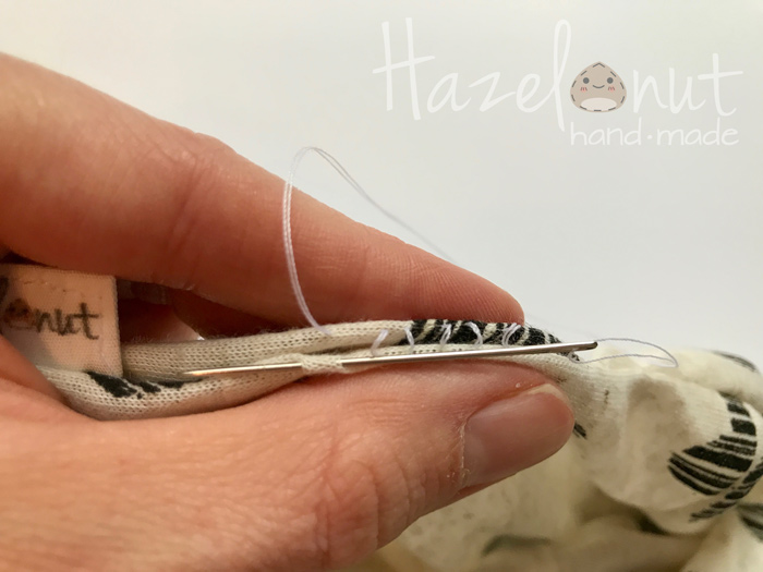 How to Sew a Ladder Stitch on Hazelnut Handmade