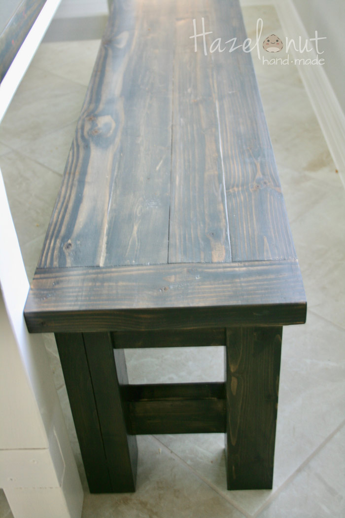 Farmhouse Table and bench with Hazelnut Handmade