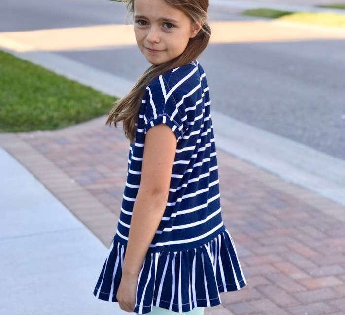 Striped Ruffle Tunic