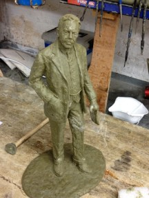 Gresley maquette in wax - by Hazel Reeves
