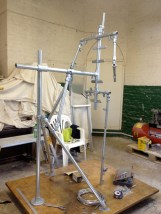 The armature in progress for Gresley statue, by Hazel Reeves