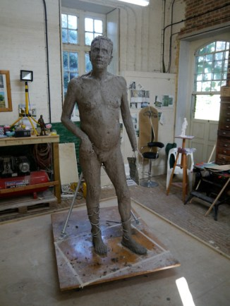 Gresley sculpture, work-in-progress, by Hazel Reeves